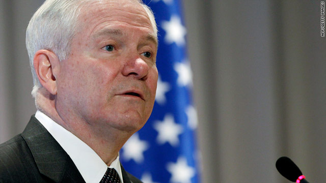 U.S. Defense Secretary Robert Gates avoided the subject of Libya in St. Petersburg, Russia, on Monday.