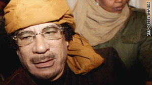 Continued pressure could create a political problem for Libyan leader Moammar Gadhafi.