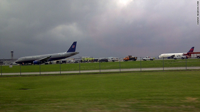 United Flight 497 was returning to Louis Armstrong New Orleans International Airport when it made the emergency landing.