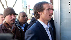 New Orleans Saints' quarterback Drew Brees is one of 10 current and prospective NFL players who are seeking an injunction against the NFL lockout.