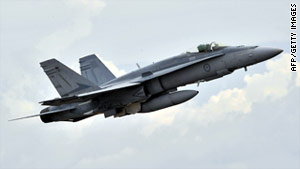An F/A-18 such as this one crashed in California during a training flight Wednesday.