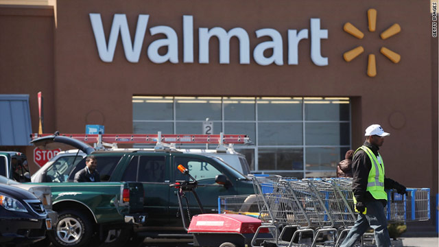 A man was glued to a toilet seat at a Wal-Mart store in Elkton, Maryland. The store pictured is in Valley Stream, New York.