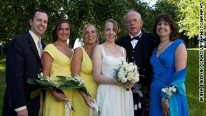 The close-knit Brown family, from the left: Bobby, Kirby, Katie, Jean, George and Ginny gathered at Jean's wedding in 2009.