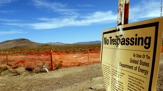 A 2002 photo shows the beginning of construction at Yucca Mountain, Nevada, a proposed site for nuclear waste.