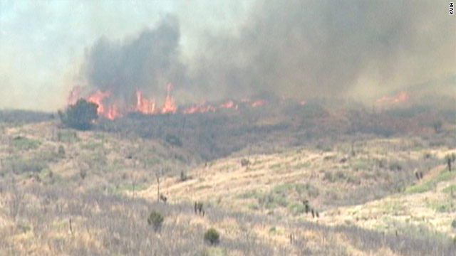 """The wildland fire risk potential has reached a critically high level,"" Texas Gov. Rick Perry has written to federal government."