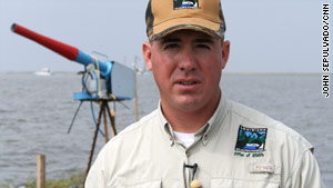 Todd Baker, biologist with Louisiana Wildlife and Fisheries.