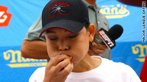 "Sonya ""the Black Widow"" Thomas is currently ranked No. 4 in the world by Major League Eating."