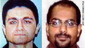 "Dekkers recalls Marwan Al-Shehhi (right) as ""likable,"" but Mohamed Atta (left) as ""nasty, very unfriendly."""