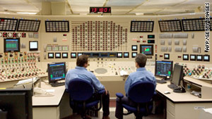 Employees work in the control room at Browns Ferry Nuclear Plant in Athens, Alabama.