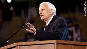 Billy Graham, shown in 2004, has provided counsel to generations of U.S. presidents, beginning with Harry Truman.
