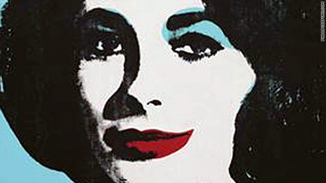 """Liz #5,"" a portrait of Elizabeth Taylor by Andy Warhol, fetched nearly $27 million at an auction Thursday."