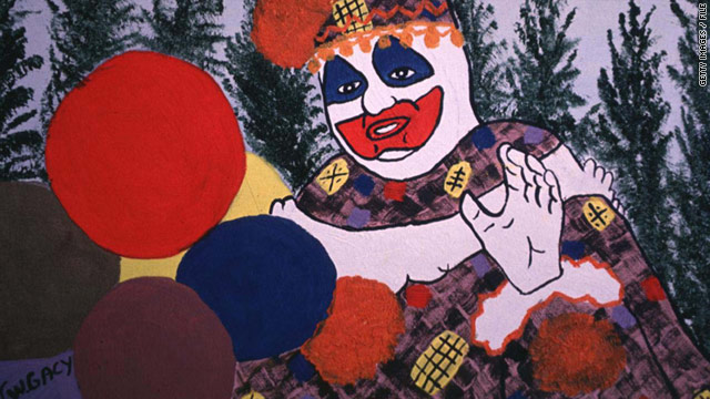 'Pogo the Clown' self-portrait was done by killer John Wayne Gacy, whose art is on sale in Las Vegas.