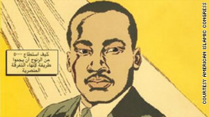A comic book on the Rev. Martin Luther King Jr. is spreading across the Mideast.