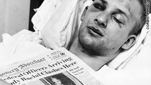 Even after the mob attacked James Zwerg, they followed him to the hospital. He became a media sensation.