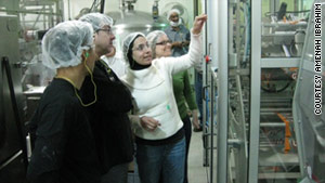 Amenah Ibrahim, center, works as an engineer for PepsiCo, but making it through school was a challenge.