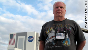 Ronald Palmisano, host of a public access show, has been covering space shuttle launches for more than 20 years.