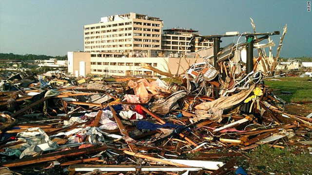 Officials say St. John's Regional Medical Center took a direct hit when a tornado hit Joplin, Missouri, on Sunday night.