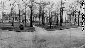 Some buildings on Emory's first campus in Oxford, Georgia, were likely built with slave labor.