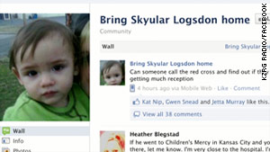 Skyular Logsdon's family has turned to radio station KZRG to help find the 16-month-old.
