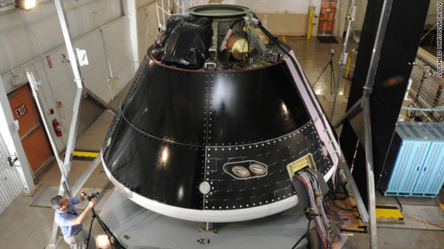 The capsule will carry four astronauts and be based on designs originally planned for NASA's Orion Crew Exploration Vehicle.