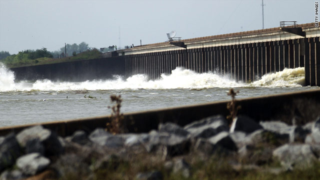 The Morganza Spillway was opened for first time in nearly 40 years to relieve Mississippi River flooding. It's now being closed.