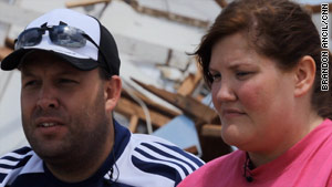Joe and Michelle Dixon were driving out of town when the tornado struck; their home was demolished.