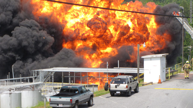 Hundreds of people were evacuated after a Caldwell County, North Carolina, chemical plant on Saturday.