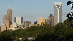 Charlotte's spectacular skyline has grown rapidly since 2000.