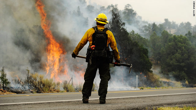 Carrying 25-35 pounds of gear and working 16-hour days, ground crews constitute the primary firefighting weapon.