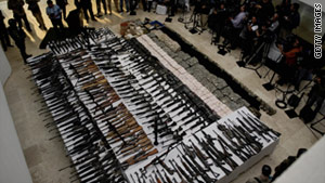 A new report says that more than 70% of firearms submitted to the ATF from Mexico for tracing originated in the U.S.