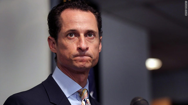 U.S. Rep. Anthony Weiner, D-New York, announced his resignation Thursday in a news conference.