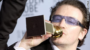 The government's stronger, no-tolerance policy began after Bono's acceptance speech at the Golden Globes in 2003.