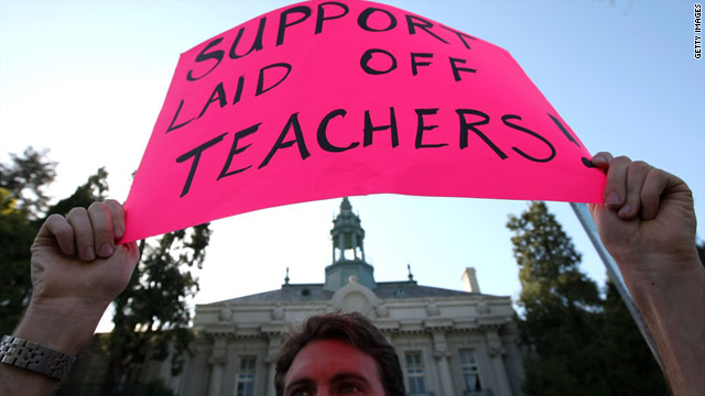 Cash-strapped state and local governments will soon shed up to 110,000 jobs, many of those belonging to teachers.
