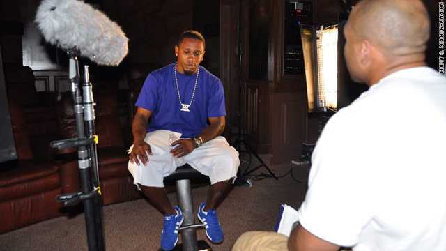 During a shoot for Dorsey Levens' documentary, Ellis Hobbs talks with Levens about life and pain in the NFL.
