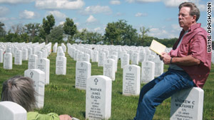 Jeff Wilfahrt always reads a poem by William Wordsworth when he visits his son's grave.