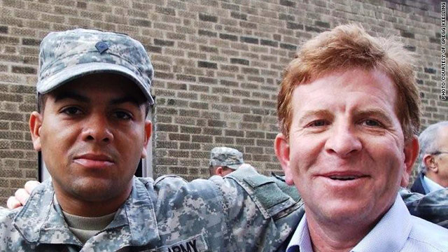 Army Spc. Chancellor Keesling, seen here with his father Gregg Keesling, committed suicide in Iraq in 2009.