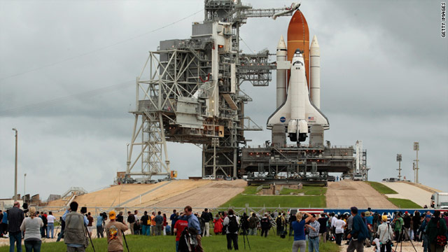 Bad weather conditions threaten Atlantis' launch, which will mark the final liftoff in the 30-year-old space shuttle program.