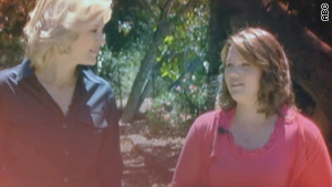 Jaycee Dugard, right, who was abducted as an 11-year-old, talks to ABC News' Diana Sawyer.