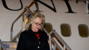 Secretary of State Hillary Clinton's 12-day overseas trip started Friday in Istanbul, Turkey.