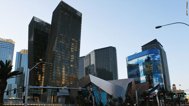 The Aria Resort and Casino includes hotel rooms, condominiums and a shopping center in Las Vegas' CityCenter.