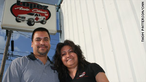 Town leaders Joel and Sandra Lopez have seen Giddings' Hispanic population rise since their high school days.