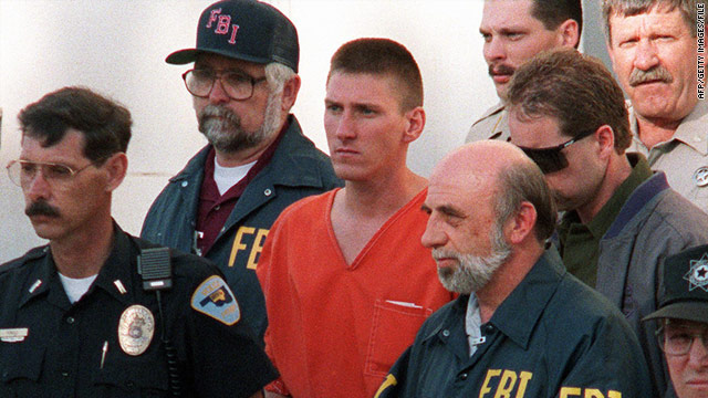 Timothy McVeigh was convicted in the 1995 Oklahoma City bombing and showed U.S. vulnerability to domestic terrorism.