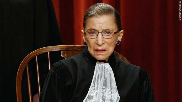 "Ruth Bader Ginsburg says it's a ""joy"" to be one of three women on the Supreme Court."