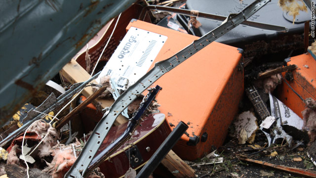 Photos of Orange's iconic amps on Facebook inspired a campaign to aid Glory Days music store in Joplin, Missouri.