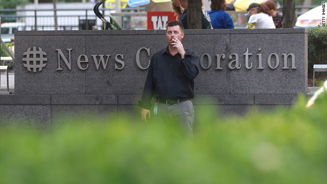 News Corporation headquarters as seen in New York on July 14