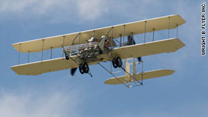 The plane was a copy of a Wright Model B aircraft produced seven years after the brothers' celebrated first flight.