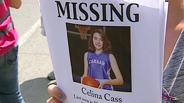 Celina Cass, 11, was last seen in her New Hampshire home on Monday night.