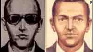 The FBI is looking at a new suspect in the 1971 hijacking case of D.B. Cooper, pictured in composite images.