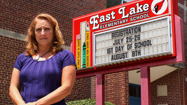 Teacher Julie Rogers-Martin left Atlanta's East Lake Elementary School when she suspected cheating.