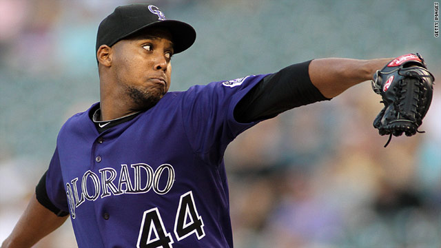 """Juan Nicasio was """"resting comfortably"""" at a Denver hospital following surgery, the Colorado Rockies said in a statement."""